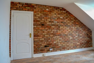 reclaimed brick wall